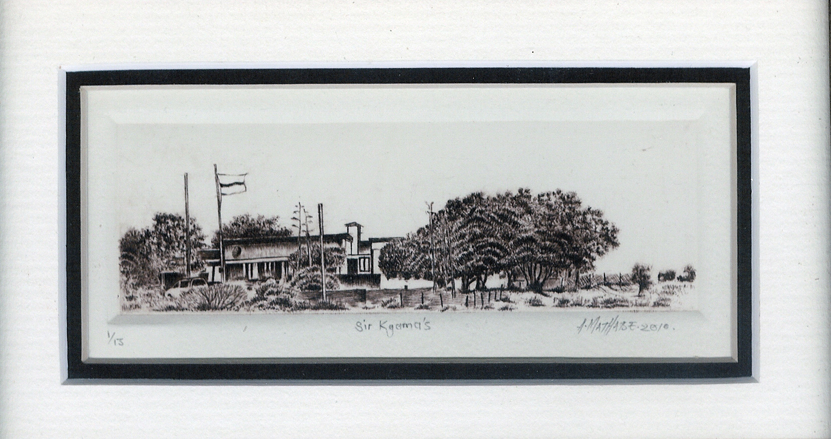 5 Chevy\'s Deadend by Abe Mathabe - Dry-Point on Perspex