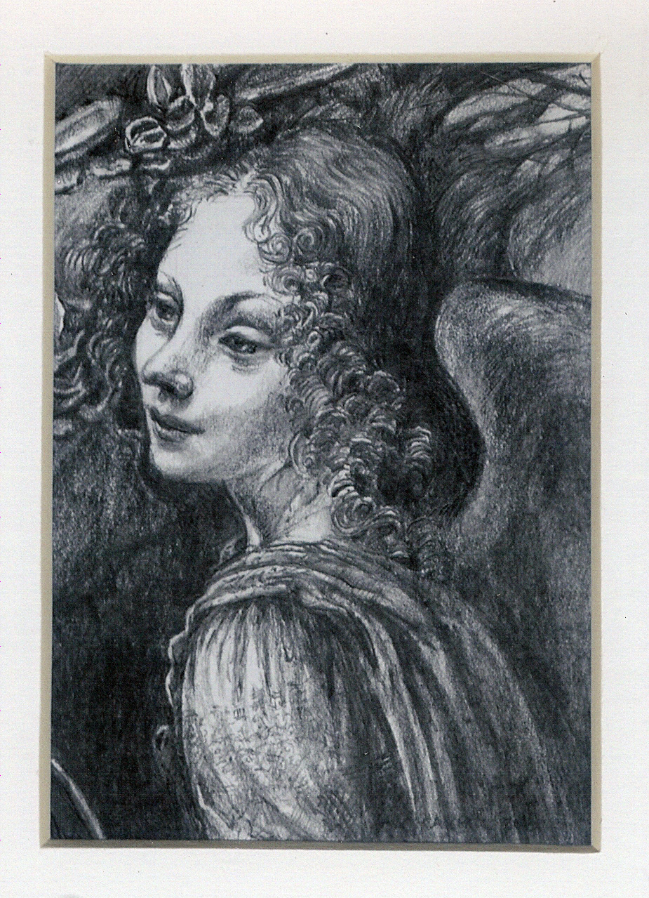 56 After Leonardo da Vinci's Angel in... by Carrol Evans - Pencil