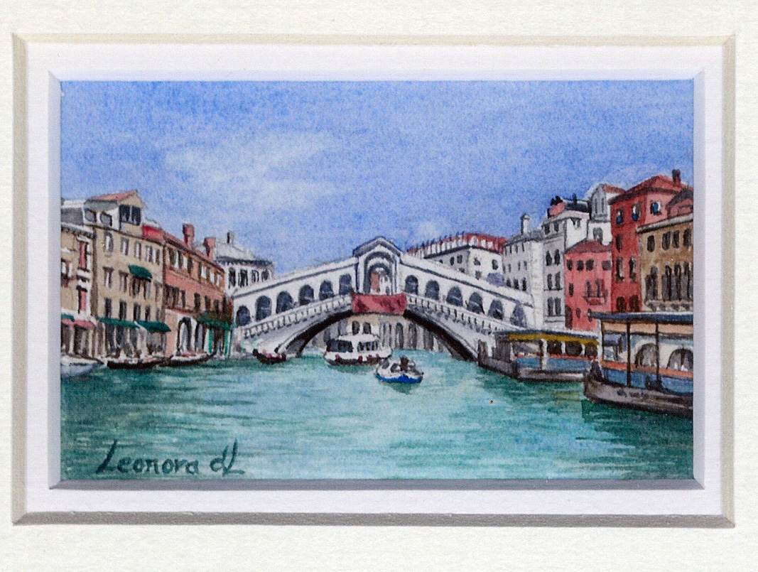 72 Rialto Bridge, Venice by Leonora de Lange - Watercolour
