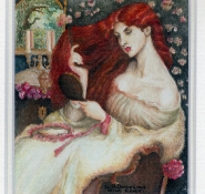 119 Lady Lilit - after Rosetti by Lesley O\'Donoghue - Watercolour