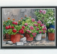 33 Village Garden by Chrysoula Argyros - Watercolour