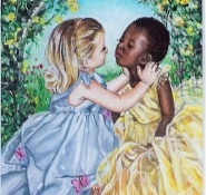62 Thank Heaven for Little Girls by Gini Harris - Oil on refined canvas