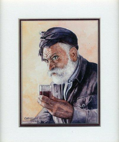 33 Yia sou Cheers by Chrysoula Argyros in Watercolour