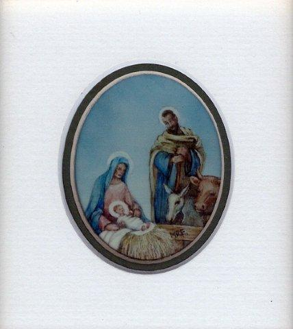 50 Nativity by Meg Edgecombe in Watercolour on Polymin
