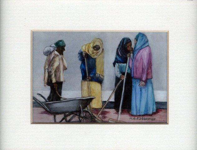 55 Ethiopian Beauties by Meg Edgecombe Watercolour on Polymin