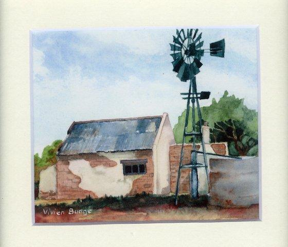 85 Karoo Cottage by Vivien Budge in Watercolour