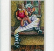 125 Sienna with the Clown by Liliane Balthazar in Opaque Watercolour