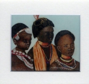 54 Ethiopian Beauties by Meg Edgecombe in Watercolour on Polymin