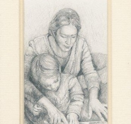 77 Learning to Play by Marie Louise van Heerden in Pencil