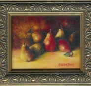 9 Red Among the Gold by Eileen Bass in Oil