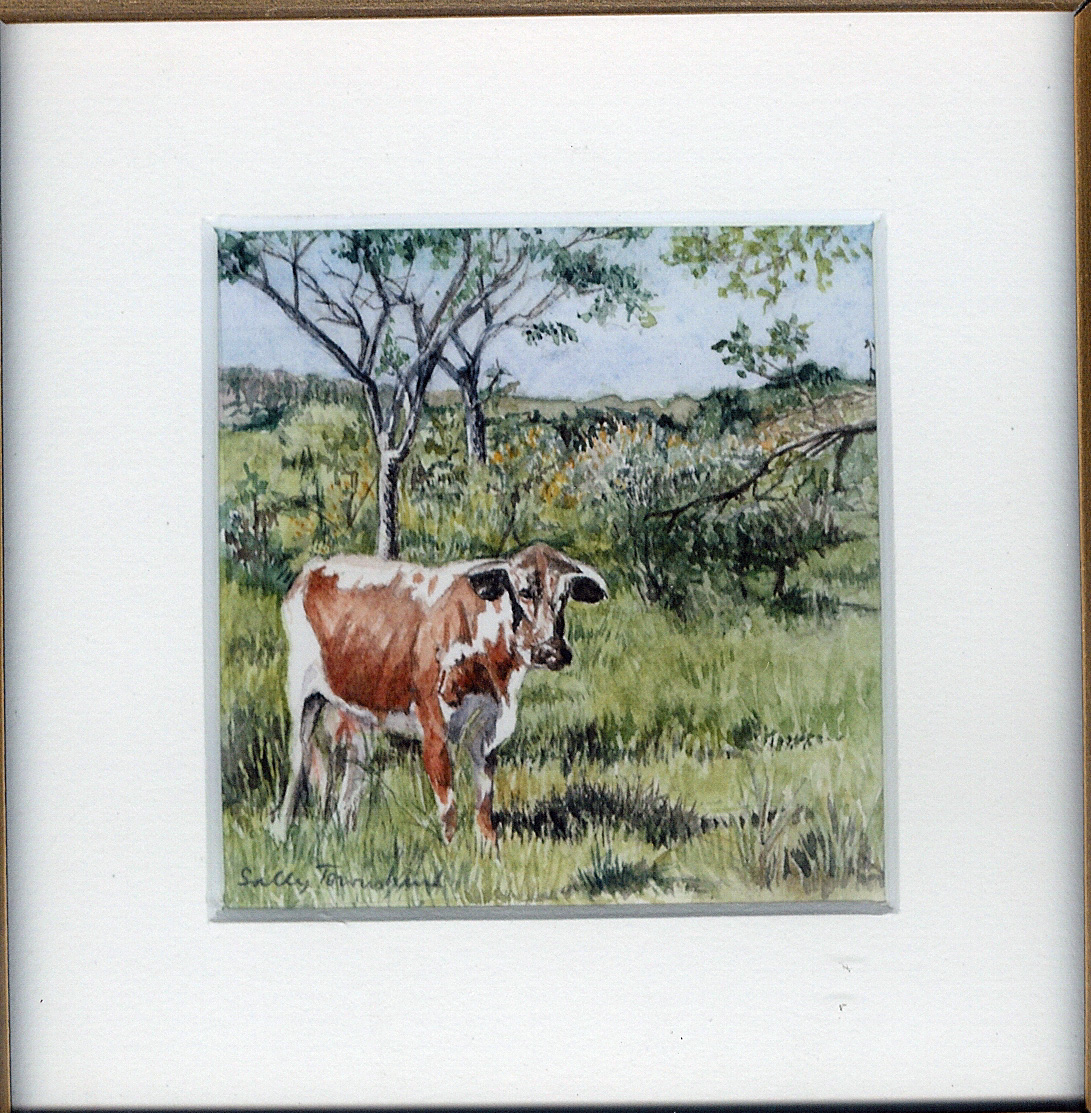 17 Contented Cow by Sally Townshend - Watercolour