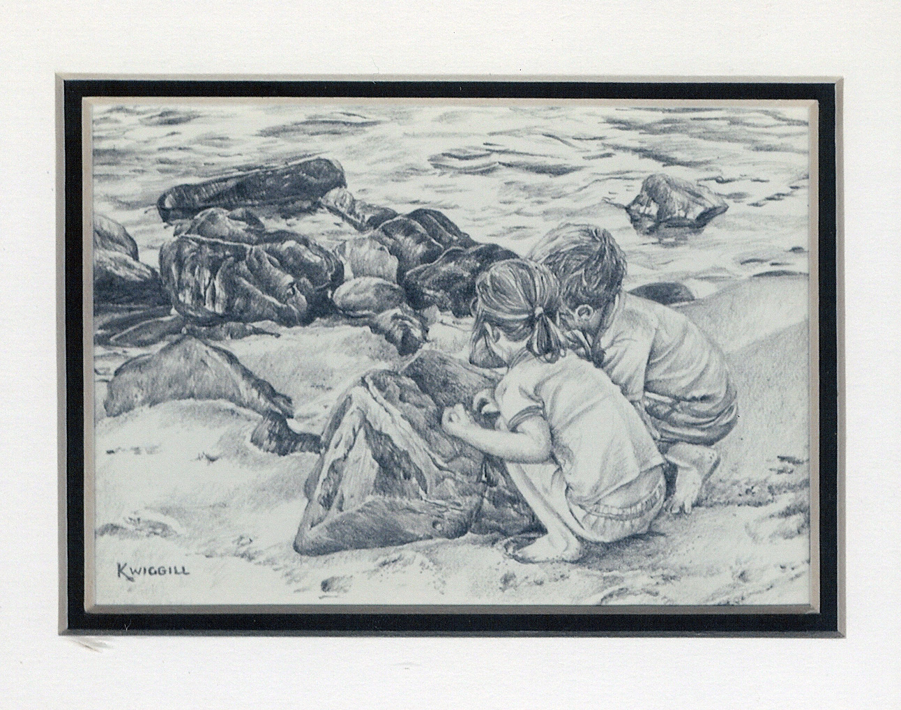 25 Seashells on the Seashore by Karyn Wiggill - Pencil