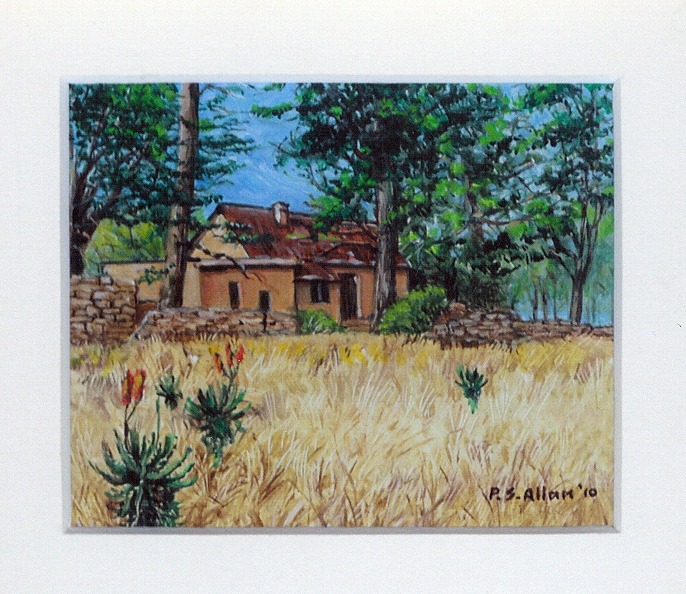 53 An African Farmhouse by Paul Allen - Oil on refined canvas