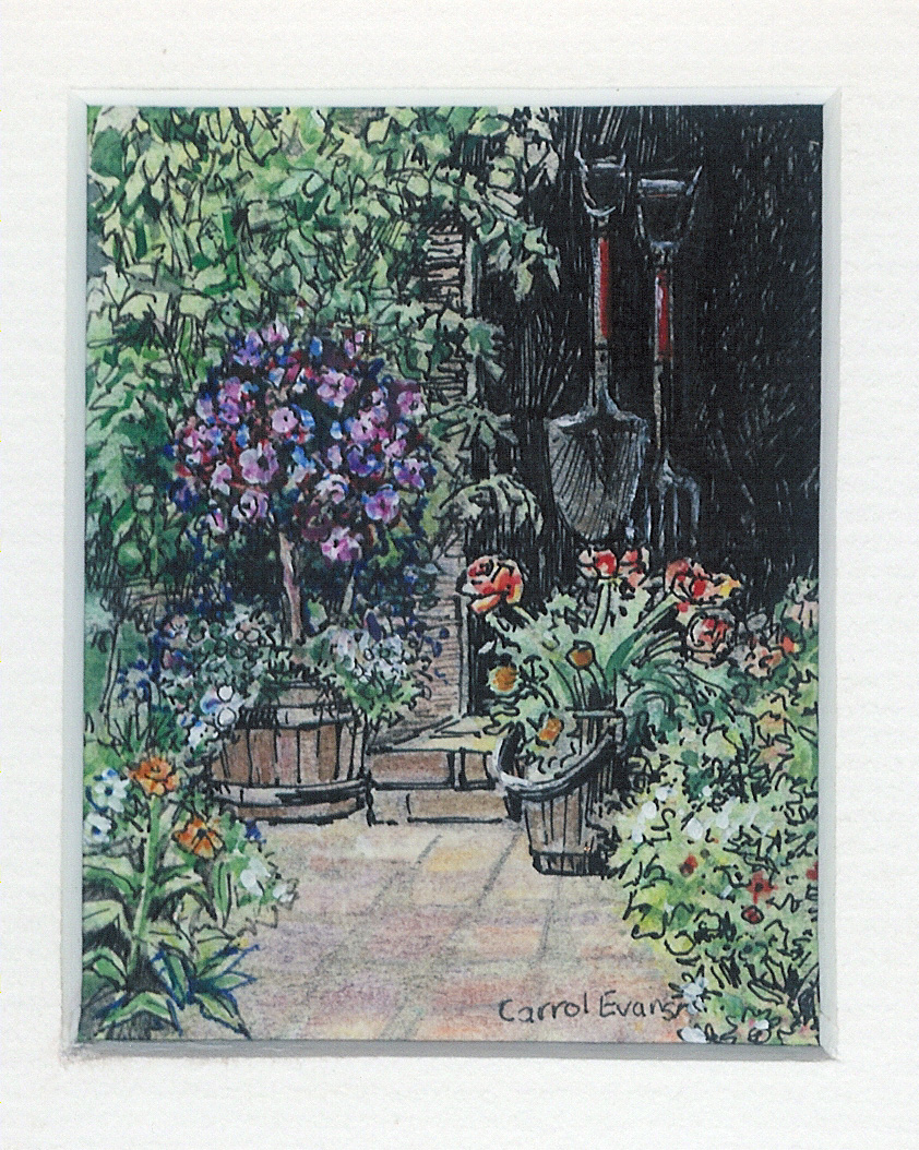57 Grandpa\'s Woodshed by Carrol Evans - Watercolour & Ink