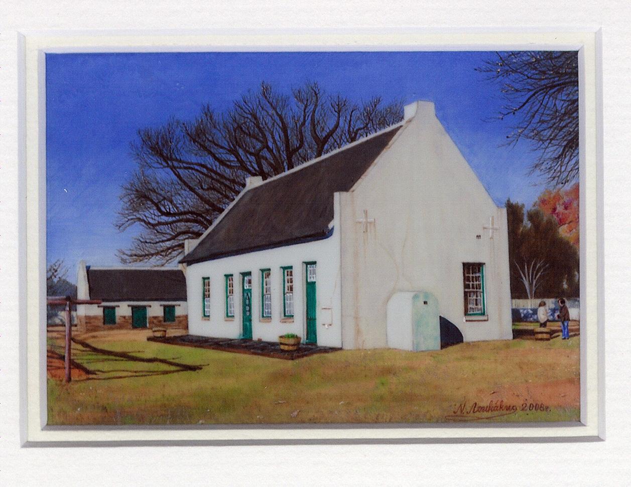 66 President Pretorius Woning, Potchesfstroom by Nikolai Loukakis - Oil on Polymin
