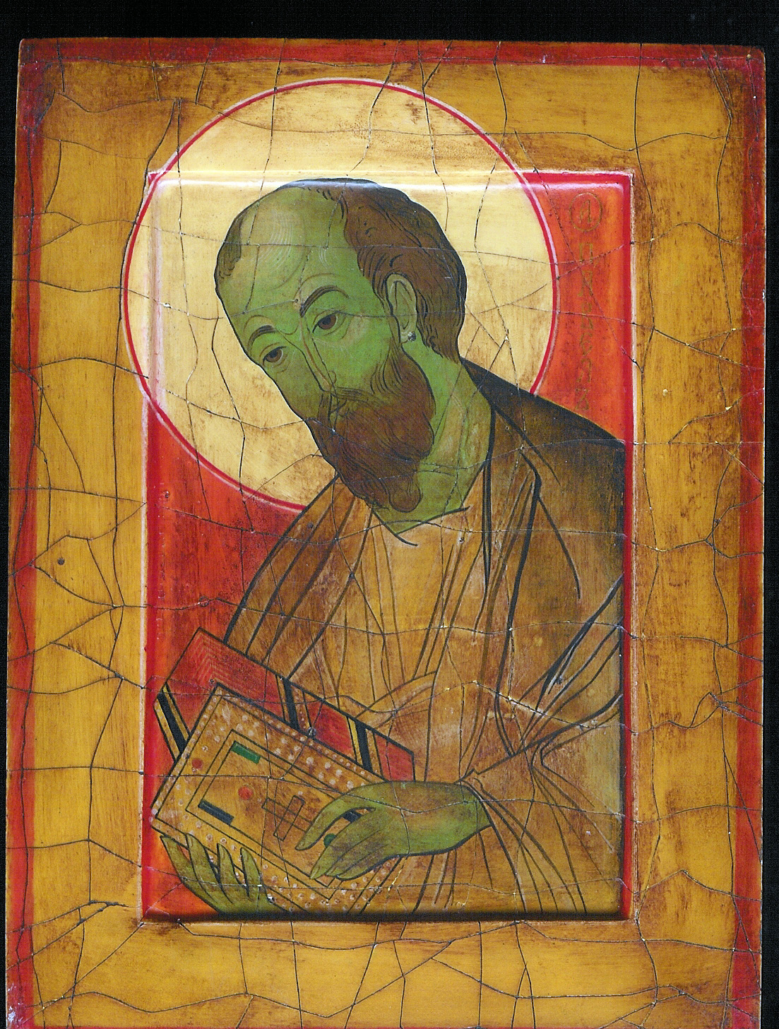 Holy Apostle Paul (+67A.D.) Antique Look by Nikolai Loukakis - Egg Tempera (Highly Commended)