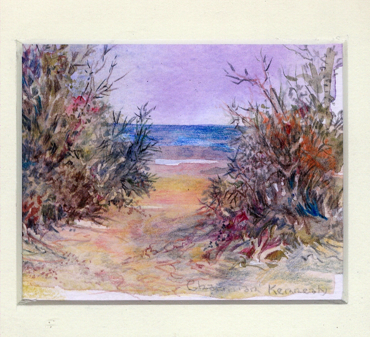81 Beach, Eastern Cape by Charmian Kennealy - Mixed Media
