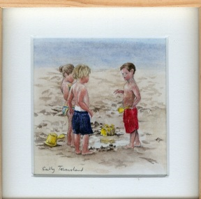 116 Beach Trio by Sally Townshend - Watercolour