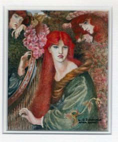 118 La Ghirlandata - after Rosetti by Lesley O'Donoghue - Watercolour