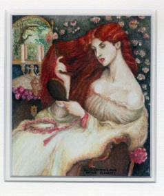 119 Lady Lilit - after Rosetti by Lesley O'Donoghue - Watercolour