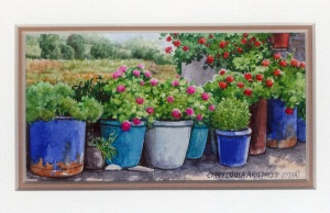 32 All in a Row by Chrysoula Argyros - Watercolour