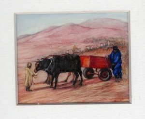 36 Lesotho Glamour by Meg Edgecombe - Watercolour on Polymin