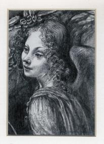 56 After Leonardo da Vinci's Angel in... by Carrol Evans - Pencil