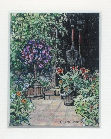 57 Grandpa's Woodshed by Carrol Evans - Watercolour & Ink