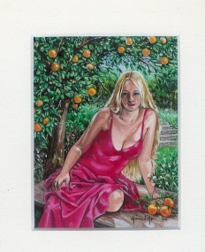 65 A Scent of Oranges by Gini Harris - Oil on refined canvas