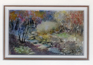 79 Stony Stream by Charmian Kennealy - Mixed Media