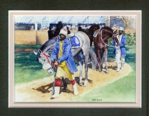 85 Race Horses - Gosforth Park by Pat Puttergill - Watercolour