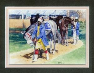 85 Race Horses - Gosforth Park by Pat Puttergill - Watercolour