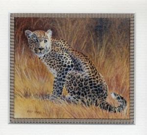 86 Leopard (Panthera Parous) by Pat Puttergill - Watercolour
