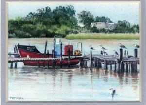87 Berg River Scene by Pat Puttergill - Watercolour