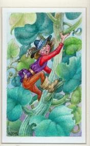 91 Jack & the Beanstalk by Catherine Kraetschmer - Watercolour/Gouache