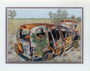 94 Jeepers Creapers by Debra Longfield - Watercolour/Coloured Pencil