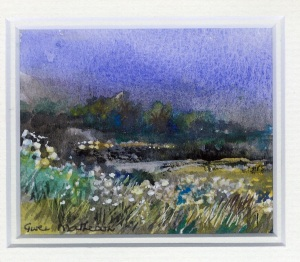 95 Night Flowers by Gwen Matheson - Watercolour