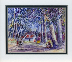 96 Farmhouse by Gwen Matheson - Watercolour