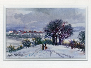 97 Snow Scene by Gwen Matheson - Watercolour