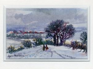 97 Snow Scene by Gwen Matheson - Watercolour