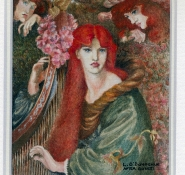 118 La Ghirlandata - after Rosetti by Lesley O\'Donoghue - Watercolour