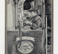 26 Train of Thought by Karyn Wiggill - Pencil