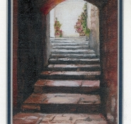 8 Rye Village Archway (England) by Joy Gibson - Oil on refined canvas