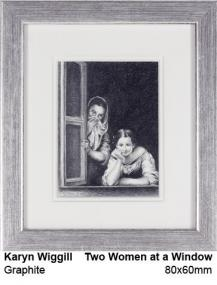 Two women at a window (old master)