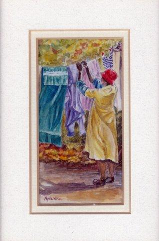 108 Washday Blues by Myrtle Wilson in Watercolour