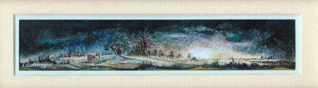 123 Landscape with the Guest by Liliane Balthazar in Opaque Watercolour