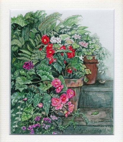 34. Summer Pots by Mary Lynn Kydd in Watercolour
