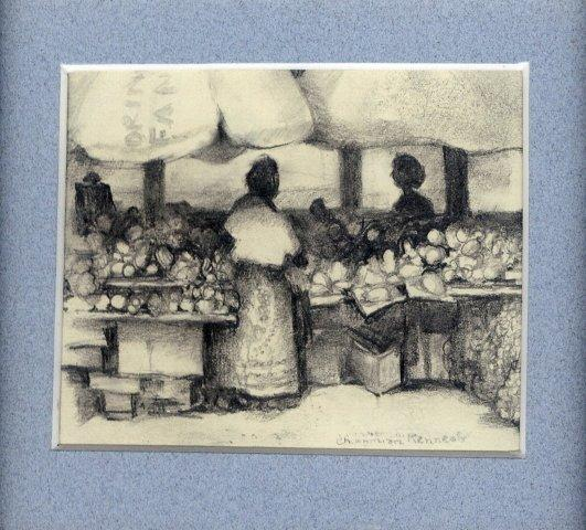 38 Hazyview Roadside Market by Charmian Kennealy in Pencil