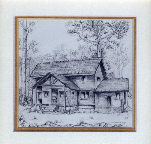 49 Worker\'s Cottage at Shiwa Ngandu by Debra Longfield in Coloured Pencil
