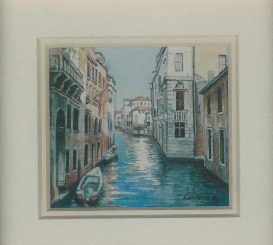 73 Canal in Venice by Leonora de Lange in Watercolour
